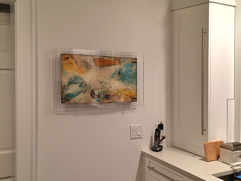 picture installed at home by washington square