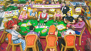 poker art by Charles Fazzino
