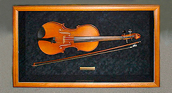 violin in shadow box